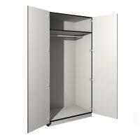Garderobenschrank mit Ablagefach und Kleiderstange und Türen