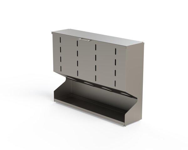 Spenderbox Edelstahl 4 fach